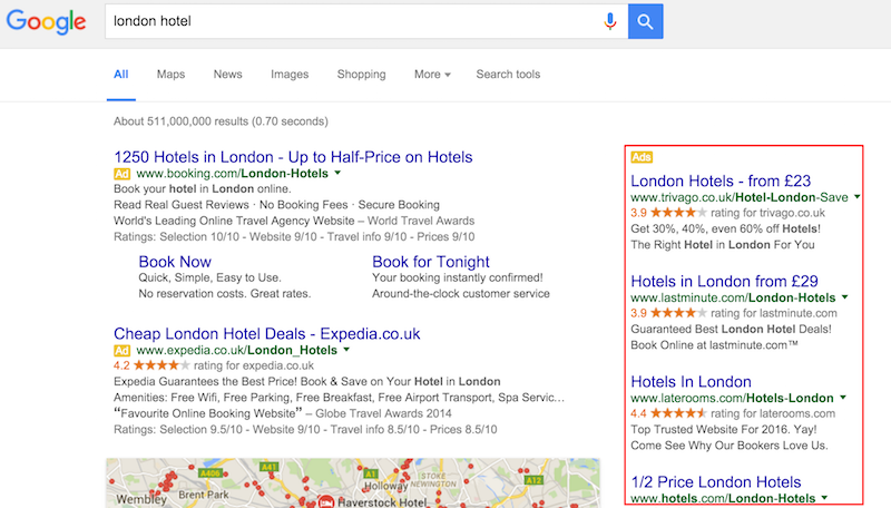Google Has Removed Right Hand Side Ads On SERPs Worldwide